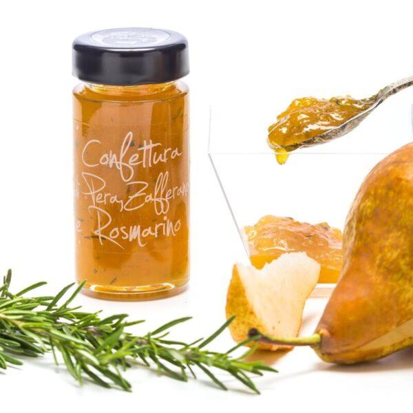 Confettura artigianale di pera, zafferano e rosmarino